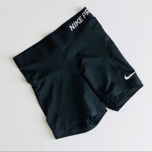 Nike Pro Black Spandex Shorts Size Small